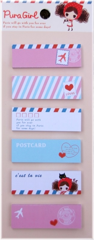 Postcard sticky  notes - Pura girl