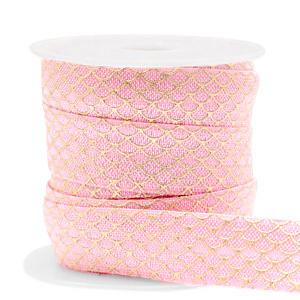 Elastisch lint,  roze-goud zeemeermin