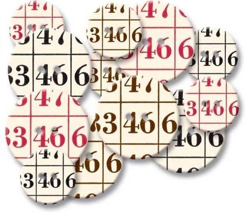 Chipboard buttons Bingo - Jenni Bowlin * CB315