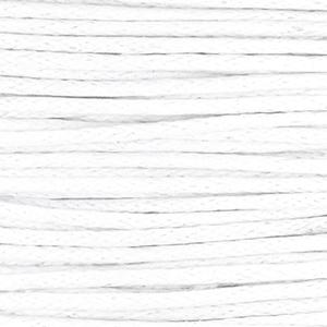 Waxkoord white 1 mm. dik, per meter