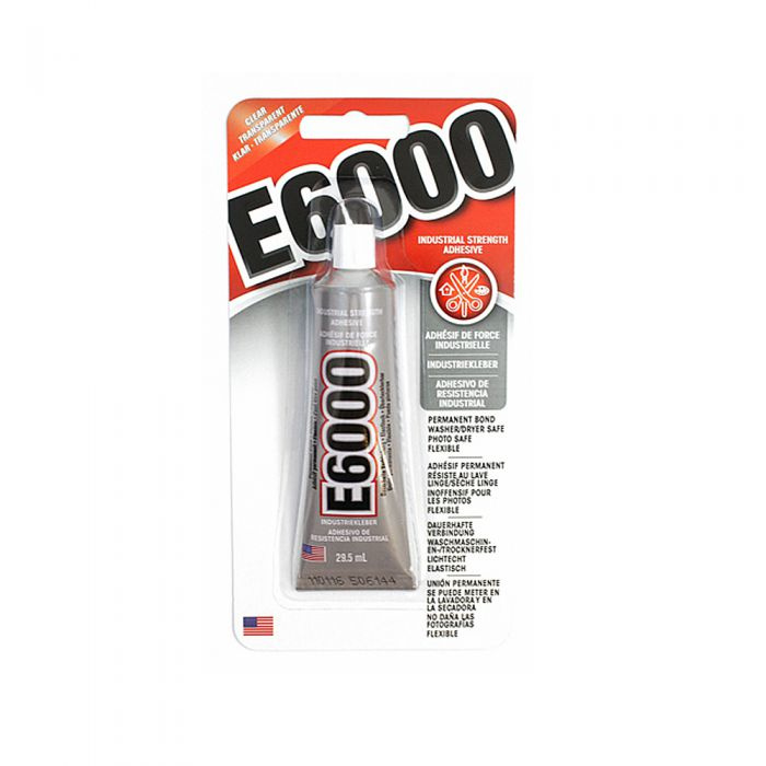 E6000 Flexibel, wasbaar, wasdrogerveilige, transparante lijm