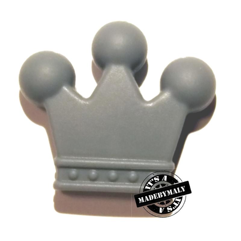 Siliconen kroon grijs 3 cm. hoog