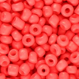 Glaskraal Rocailles 6/0 (4mm) koraal rood