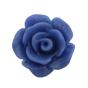 Roosje kraal 10mm matt navy blue