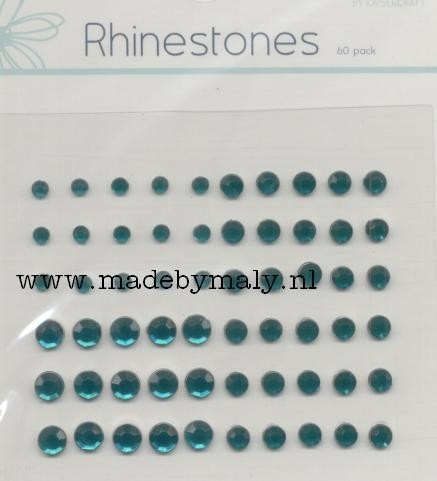 60 Rhinestones donkergroen - Kaisercraft * BR110