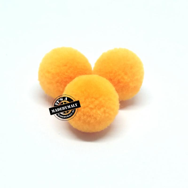pompom geel * 15 mm - per 10 stuks