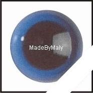 1 paar poppen ogen - veiligheids ogen 8 mm. blauw