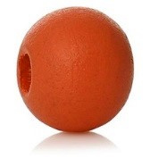 Houten kraal 8 mm rond lovely rood