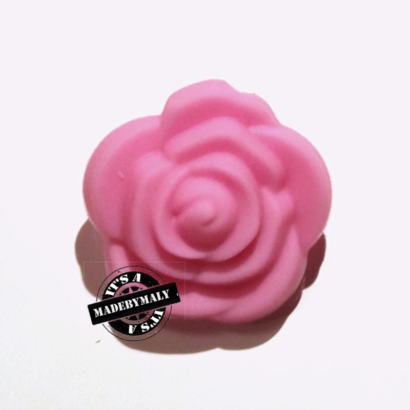 Siliconen bloem kraal 20mm, foze