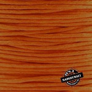 1 mm Waxkoord donker oranje