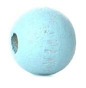 Houten kraal 8 mm rond sky blauw