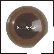1 paar poppen ogen - veiligheids ogen 10 mm. bruin