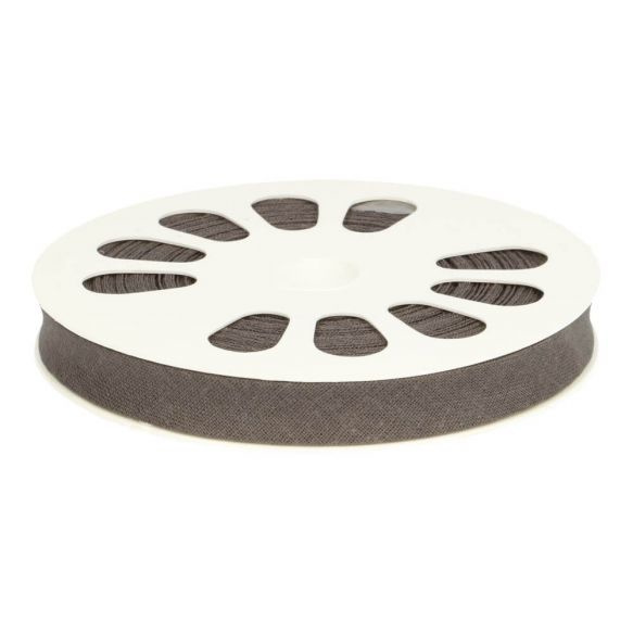 1 meter Dox biasband katoen grijs - 001
