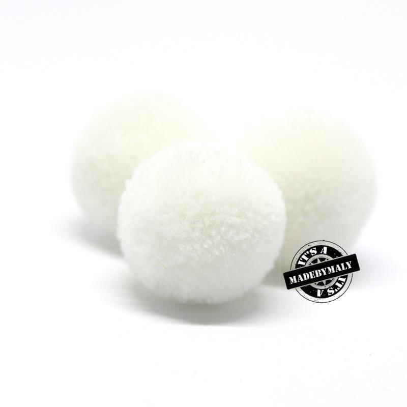 pompom wit * 20 mm - per 10 stuks