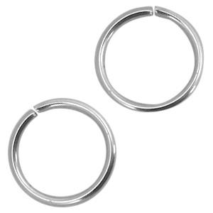 Stainless steel buigring 5,5mm DQ antiek zilver (nikkelvrij)