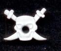 Eyelet piraat wit