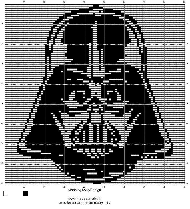 Haak- en borduurpatroon Darth Vader