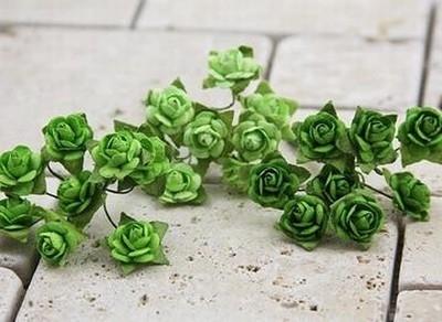 Mini Roses light green shades - Prima Marketing * 535551