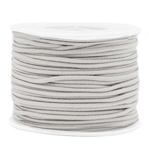 Koord elastiek 2 mm. lichtgrijs, per meter - elastisch koord