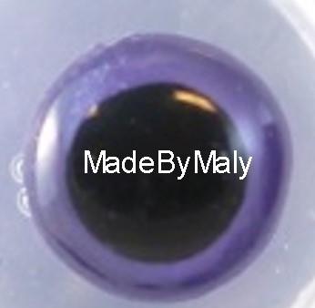 1 paar poppen ogen - veiligheids ogen 8 mm. paars