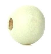 Houten kraal 8 mm rond soft groen