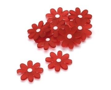 Acryl bloemen rood Knorr Prandell