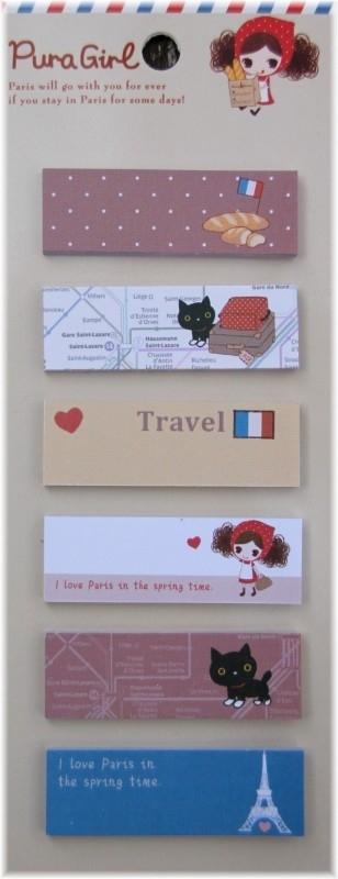 Paris sticky  notes - Pura girl