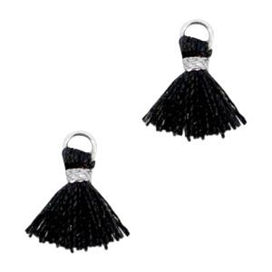 Ibiza style mini kwastje GZilver-Zwart