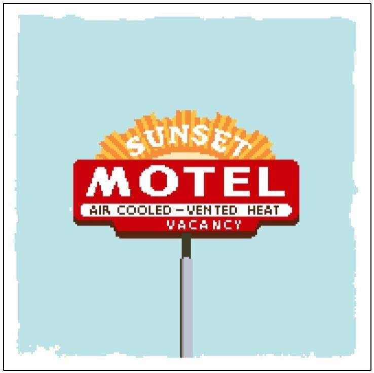 Haak- en borduurpatroon Sunset Motel
