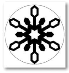 Large Punch Icelandic snowflake - Martha Stewart * 42-35024