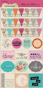Head over heels mixed cardstock stickers - Lily Bee Design * HHS158