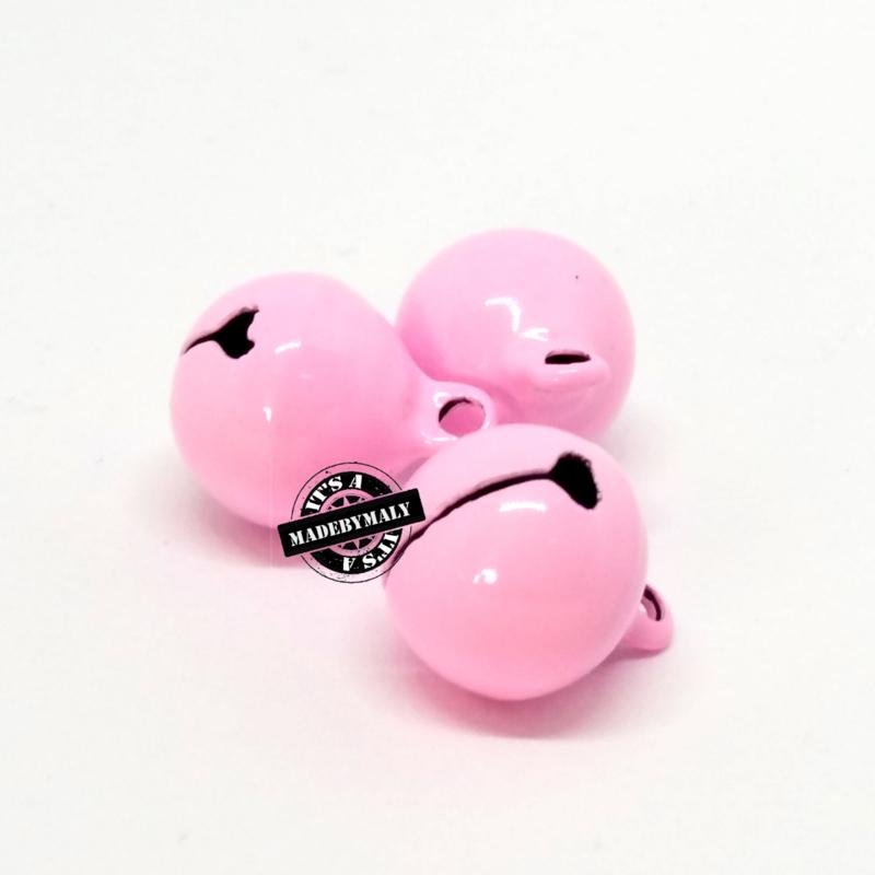 Gesloten belletje 13 mm.roze- per stuk