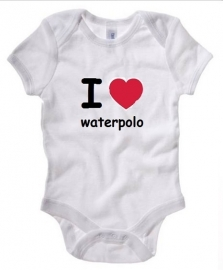 Rompertje I love waterpolo - wit