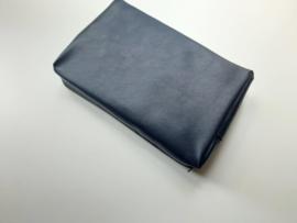 Bijbeltas met rits voor de vrouwen//mannenbijbel van blauw kunstleer
