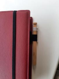 Bijbelhoes vegan leather Rood voor de Zij Lacht Bijbel