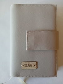 Bijbelhoes vegan  leather licht grijs voor HSV basis