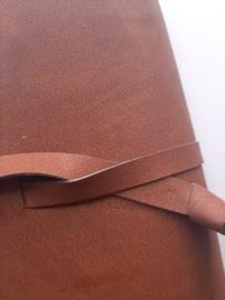 Luxe bruin vegan leather omslagbijbelhoes