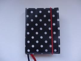 Marine dots met rood elastiek Bijbelhoes voor Jongbloed zakbijbel