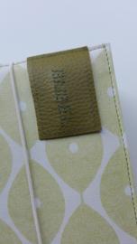 Lime-groen retro Olive bijbelhoes  (incl. rug van kunstleer )