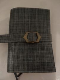 Blauw/grijs met gesp Bijbelhoes voor NBV (oranje)
