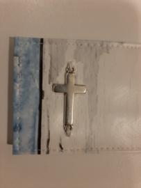 Steigerhout - Ocean blue bijbelhoes