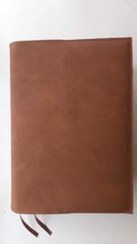 Bruin vegan leather bijbelhoes voor mannenbijbel (of vrouwenbijbel)
