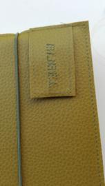 Luxe licht olijfgroen vegan leather bijbelhoes voor Bijbel in gewone taal