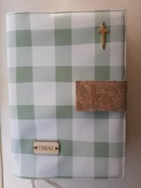 Oud groen wafel bijbelhoes