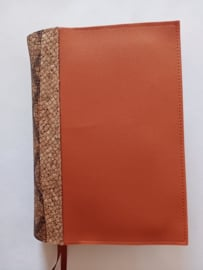 Bijbelhoes orange silverguard incl. rug kurk caiman