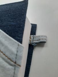 Bijbelhoes jeans stof incl. recycle zak