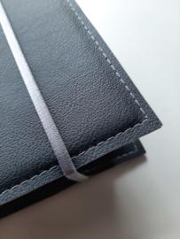 Luxe bijbelhoes vegan leather antraciet