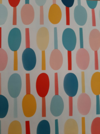 tafelzeil met lolly´s in vrolijke kleuren voor Calvijnbijbel
