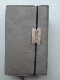 Grijs/taupe  vegan leather  bijbelhoes