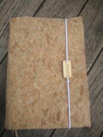 Kurk bijbelhoes eventueel met houten label